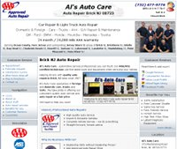 Al's Auto Care, Brick NJ auto repair website example