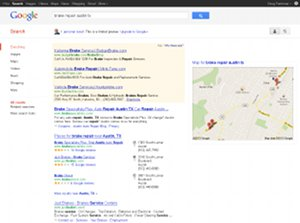 Google auto repair local search SEO