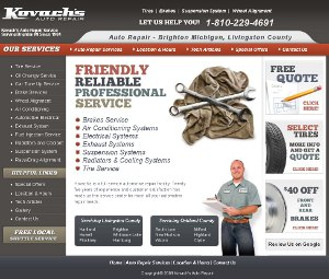Robert Maxim auto repair website SEO