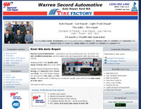 Warren Secord Automotive, Kent WA auto repair website example