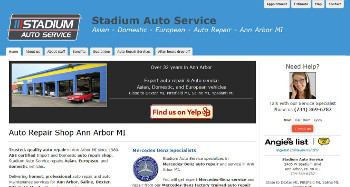 Auto repair website design example - Stadium